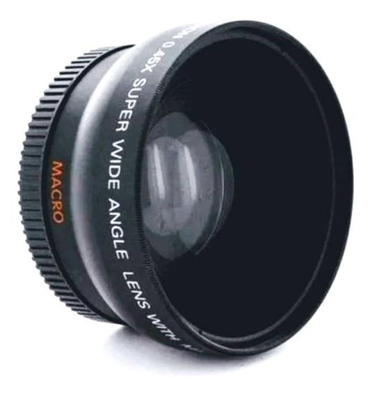 Lente Wide Olho Peixe + Close-up Yonknuo 50mm P/canon Ø52
