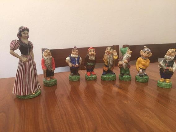 Porcelana Antigua, Blanca Nieves Y Los 7 Enanitos