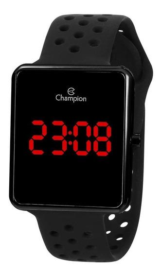 Relógio Unissex Champion Digital Led Ch40081d - Preto