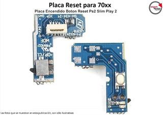 Placa Reset Para 70xx Placa Encendido Boton Reset Ps2