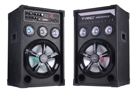 Caixa De Som Amplificada Trc 399 Bluetooth 900w