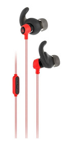 Fone Mini Headphone Jbl In Ear Reflect Preto E Vermelho