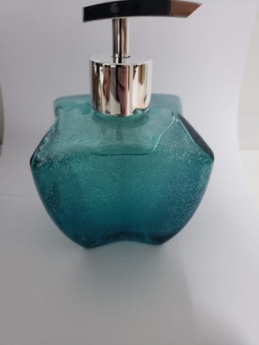 Imagem 1 de 3 de Frasco Saboneteira Luxo Azul Tifani Tipo Estrela +produto