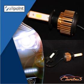 Kit Lampada Ultra Led Xenon H1 9000 Lumens Canbus 7000k