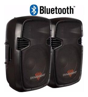 Combo Bafle 15 Potenciado Dynamont 800w Usb/fm/mic Bluetooth