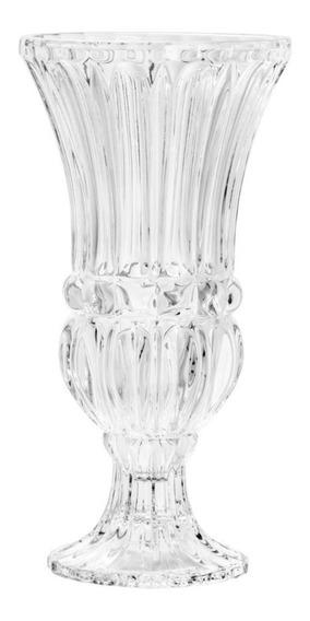 Vaso De Cristal De Chumbo C/pé Athena 15x30cm