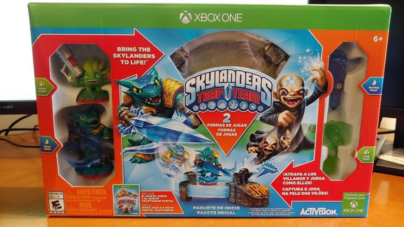 Jogo Skylanders Trap Team Starter Kit Xbox One + Adv Pack Mirror Mistery