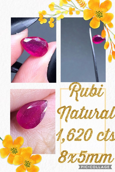 Rubi 1 620 Cts Gota Natural 8x5 Mm Extra