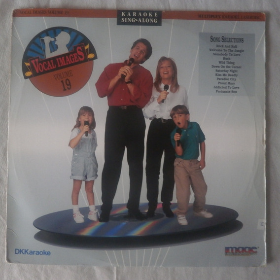 Ld Laser Disc Karaoke 1992 Vocal Images Vol.19, Seminovo
