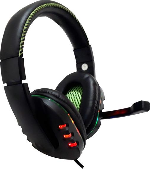 Acessórios Ps4 Pc Ps3 Headset Gamer 3 Em 1 Feir 215 Com Leds