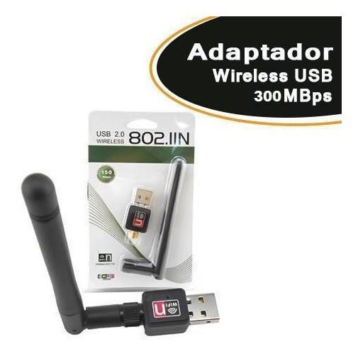 Adaptador Wireless Usb 300mbps 7dbi