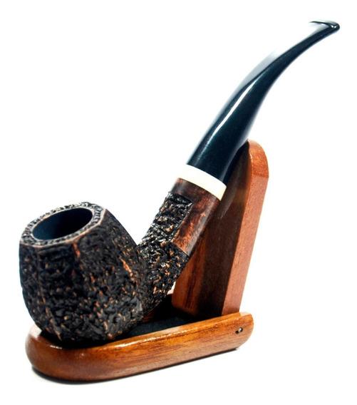 Cachimbo De Madeira Briar Hewang Curto2 + Suporte