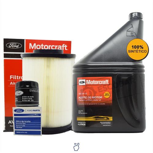 Kit 2 Filtros Ford Focus + Aceite Sintético Motorcraft 5w30