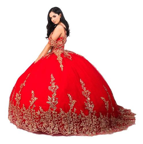 Imagen 1 de 10 de Vestido Quinceañera Glitter Aplicaciones Quince Años Xv 1004