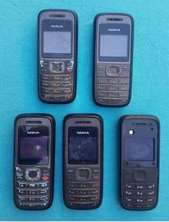 Lote Com 5 Celulares Nokia 1208 (leia A Descrição)