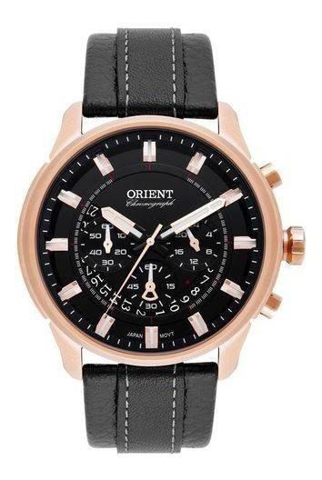 Relógio Masculino Orient Cronógrafo Mrscc017/p1pb Rosê/preto