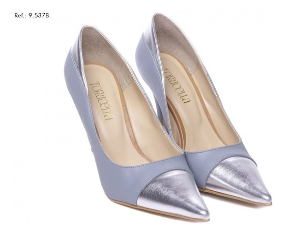 Sapato Feminino Scarpin Torricella Azul