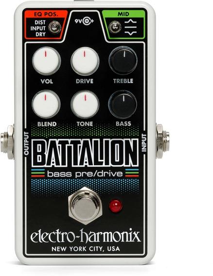 Pedal Ehx Nano Battalion Bass Preamp & Overdrive Usa