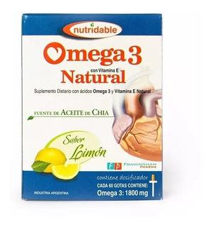 Omega 3 Natural En Gotas- Aceite De Chía Y Vit. E- 60ml