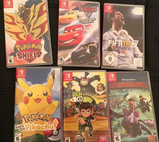Lote Juegos Nintendo Switch - Cars - Pokémon - Ben 10 - Fifa