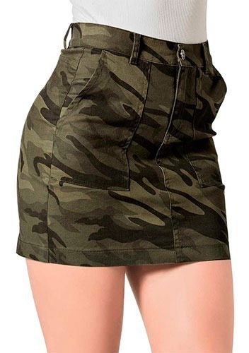 Mini-falda Casual Dama Cco 4320 Olivo Chi-xgd 091-439 T4