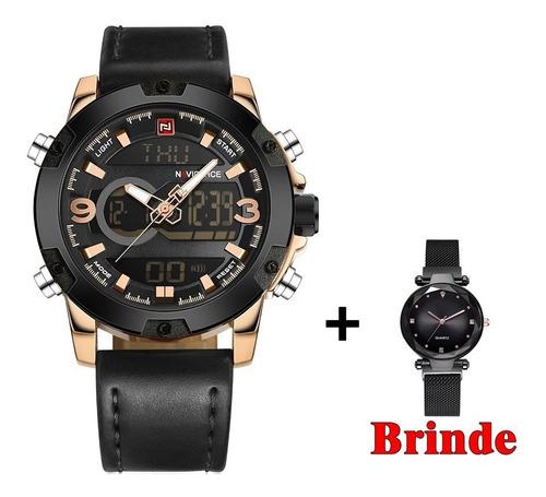 Relógio Militar Naviforce Original + Brinde