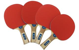 Raquetas Ping Pong 4 Palas 3 Pelotas Nuevo Oferta Ecom