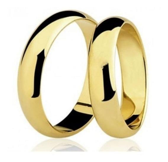 Par Aliança Banhada A Ouro18k - Promoção Dia Dos Namorados