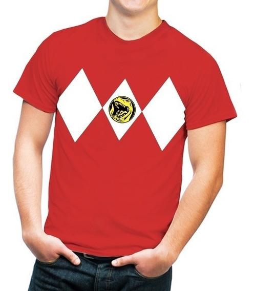 Playera Hombre Con Diseño Power Ranger Red Envío Gratis!