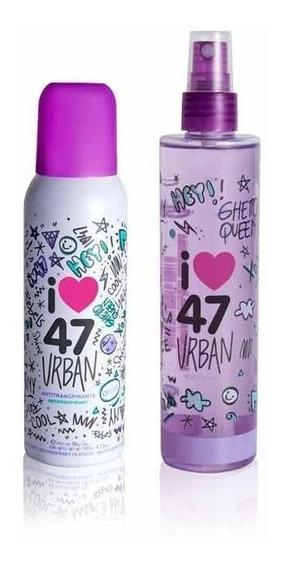 Perfume Body Splash + Desodorante 47 Street Urban