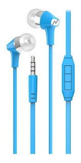 Auricular Noganet Ng-094 In Ear Flat Azul