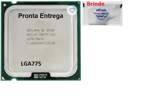 Processador 775 Core 2 Duo E8500 3,16ghz/ 6m/1333/86+ Pasta