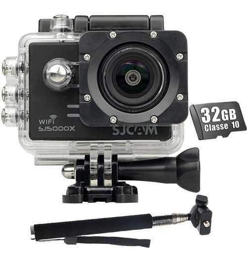 Sjcam Sj5000x 4k + 32gb Original Wifi 120 Fps Elite + Bastao