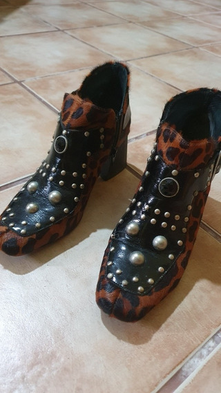 Botas Con Tachas Caña Corta De Vestir