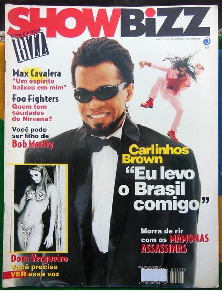 Show Bizz 123 Carlinhos Brown Engenheiros Pôster Jo Bon Jovi