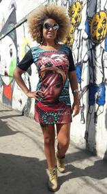 Vestido Curto Afro Promoçao Tamanho Unico Modelo 2019