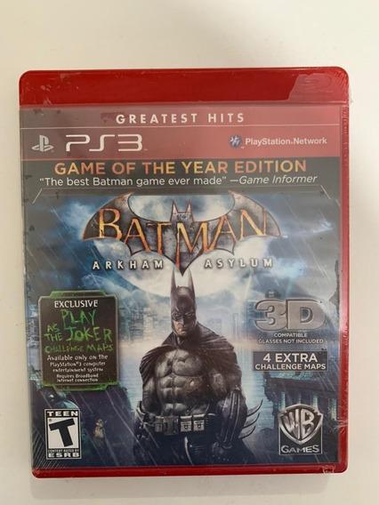 Jogo Ps3 Batman Arkham Asylum - Novo Original Lacrado