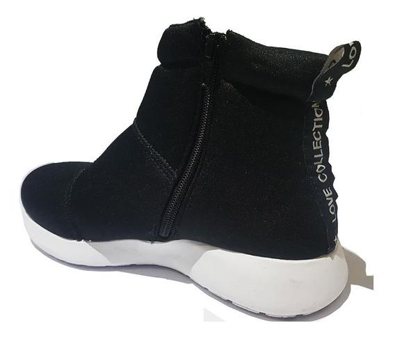 Zapatillas Mujer Tipo Botita Con Cierre Deportivas