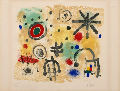 Poster Miró 60x80cm Obra Meteorologia Sinais Ornamentar Sala