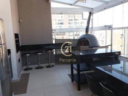 Imagem 1 de 23 de Campo Belo 2 Dormitórios Suite Varandão 2 Gars - Ap7628