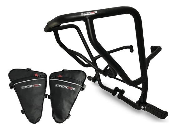 Protetor Motor Carenagem Coyote C/ Pedal + Bolsas - Xre 300