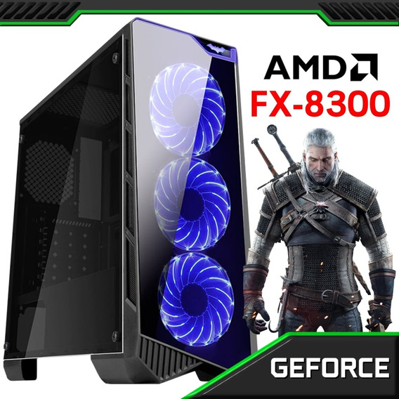 Pc Gamer Concórdia Amd Fx-8300 8gb Hd 1tb Placa De Vídeo 4gb