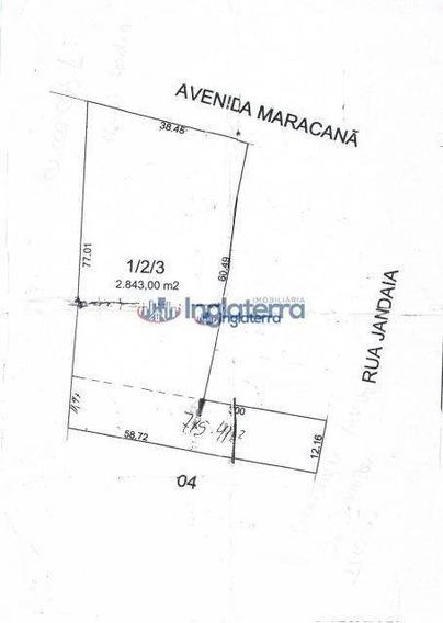 Terreno À Venda, 2843 M² Por R$ 1.800.000,00 - Vila Industrial - Arapongas/pr - Te0134