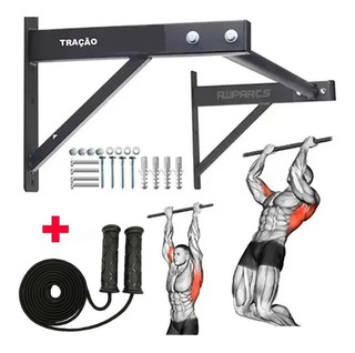 Barra Fixa De Parede Crossfit Pull-up Modelo Externo Interno