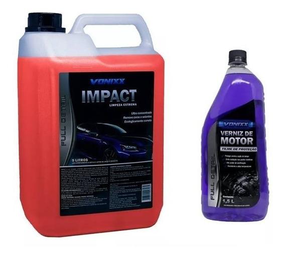 Kit Impact Limpeza Externa Completa + Verniz De Motor Vonixx