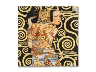 Plato En Cristal Cuadrado 15 Cm La Espera Klimt