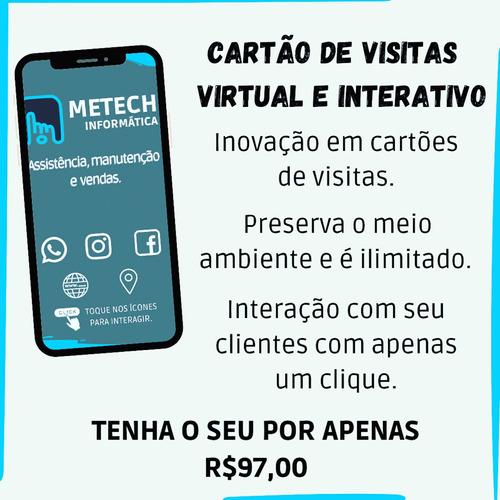 Cartão De Visitas Virtual E Interativo