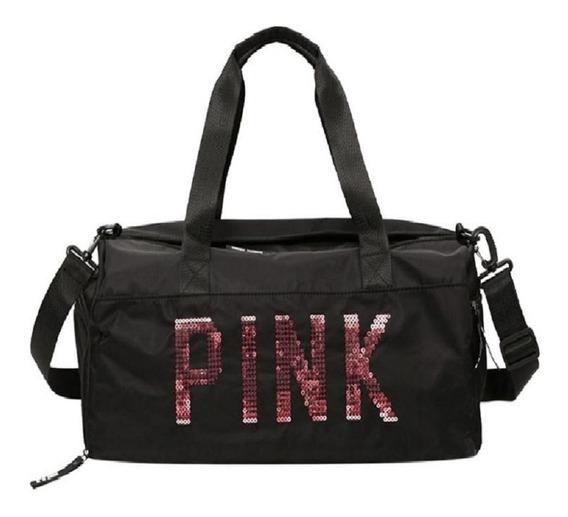 Bolsa Feminina Pink Compartimento Seco Academia Esporte