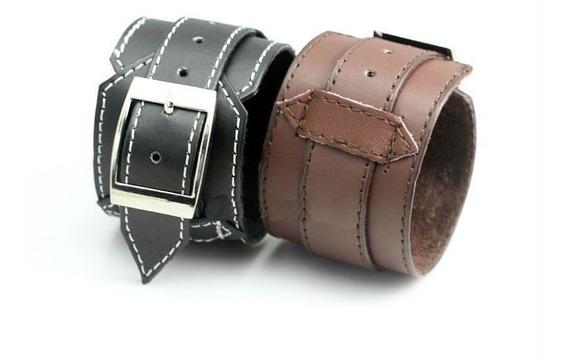 Pulseira Bracelete De Couro