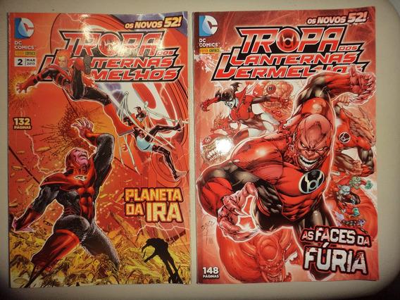 Os Novos 52 Tropa Dos Lanternas Vermelhos 1 E 2 Completa Exc